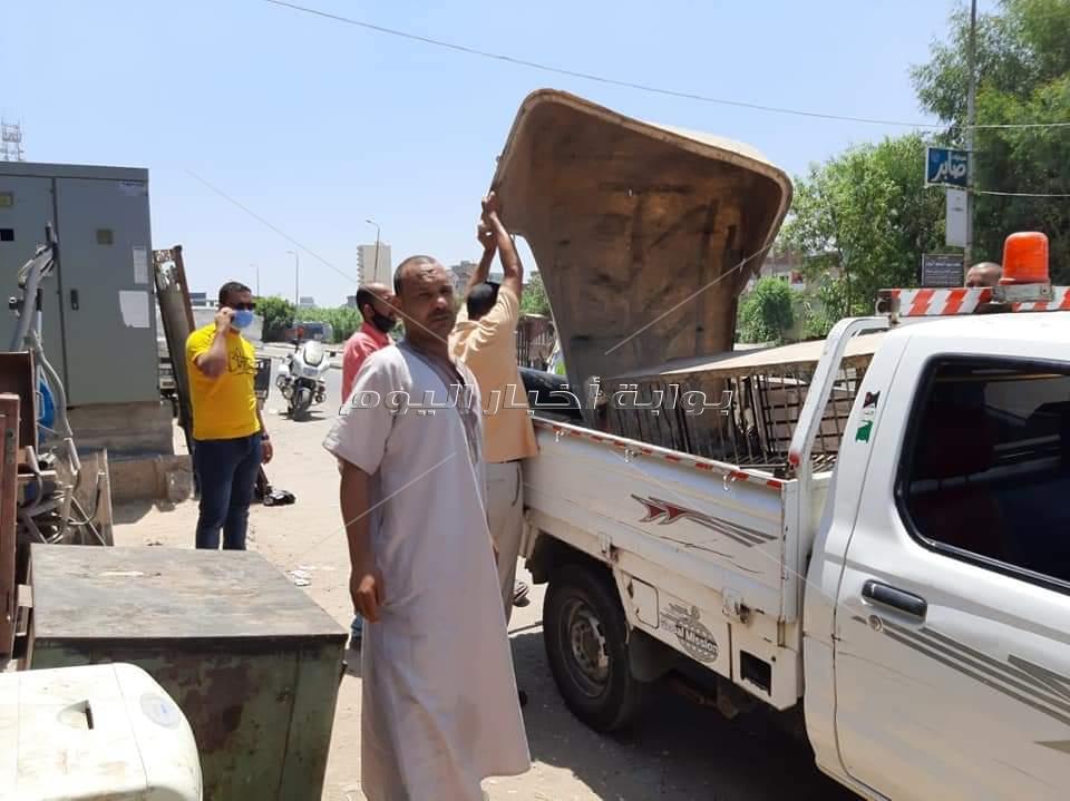 إزالة 225 مخالفة إشغال طريق خلال حملة مكبرة بكفر الدوار