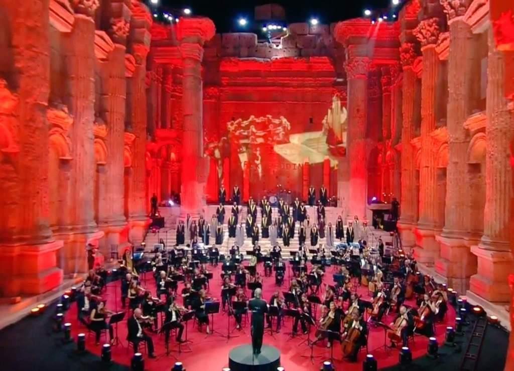 غدي وأسامة الرحباني يكرمان ذكرى الأخوين رحباني في مهرجان بعلبك