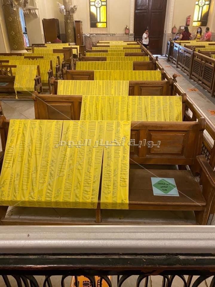 بوابة اخبار اليوم تعرض صور للإجراءات النهائية لاعادة فتح الكنائس