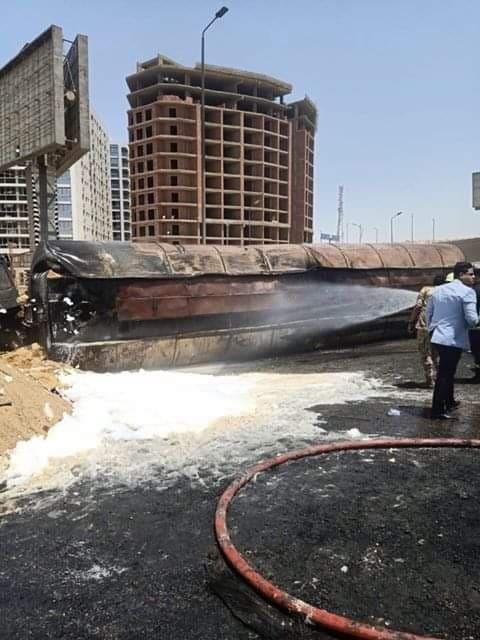 تفحم سيارات الطريق الدائري