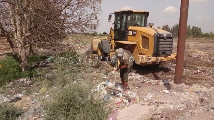 حملة ،،نور ونظف قرية،، تنهي اعمالها بفردان الإسماعيلية