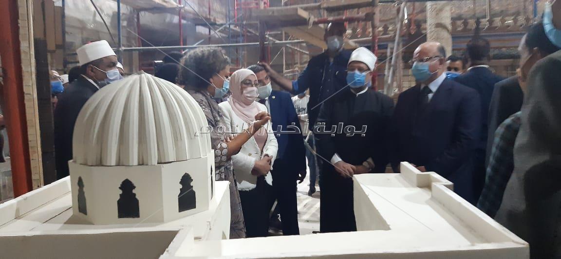 وزيرا الأوقاف والآثار يفتتحان غدا مسجد الإمام الشافعي بعد ترميمة