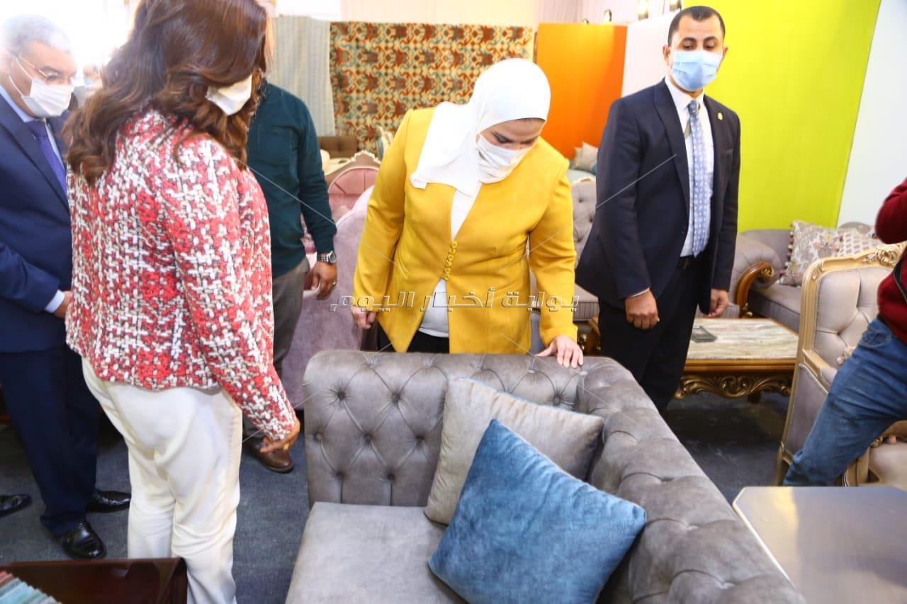 وزيرة التضامن الاجتماعى تفتتح اليوم معرض الأثاث الدمياطي ومستلزمات الأثاث للأسر المنتجة فى المنيا