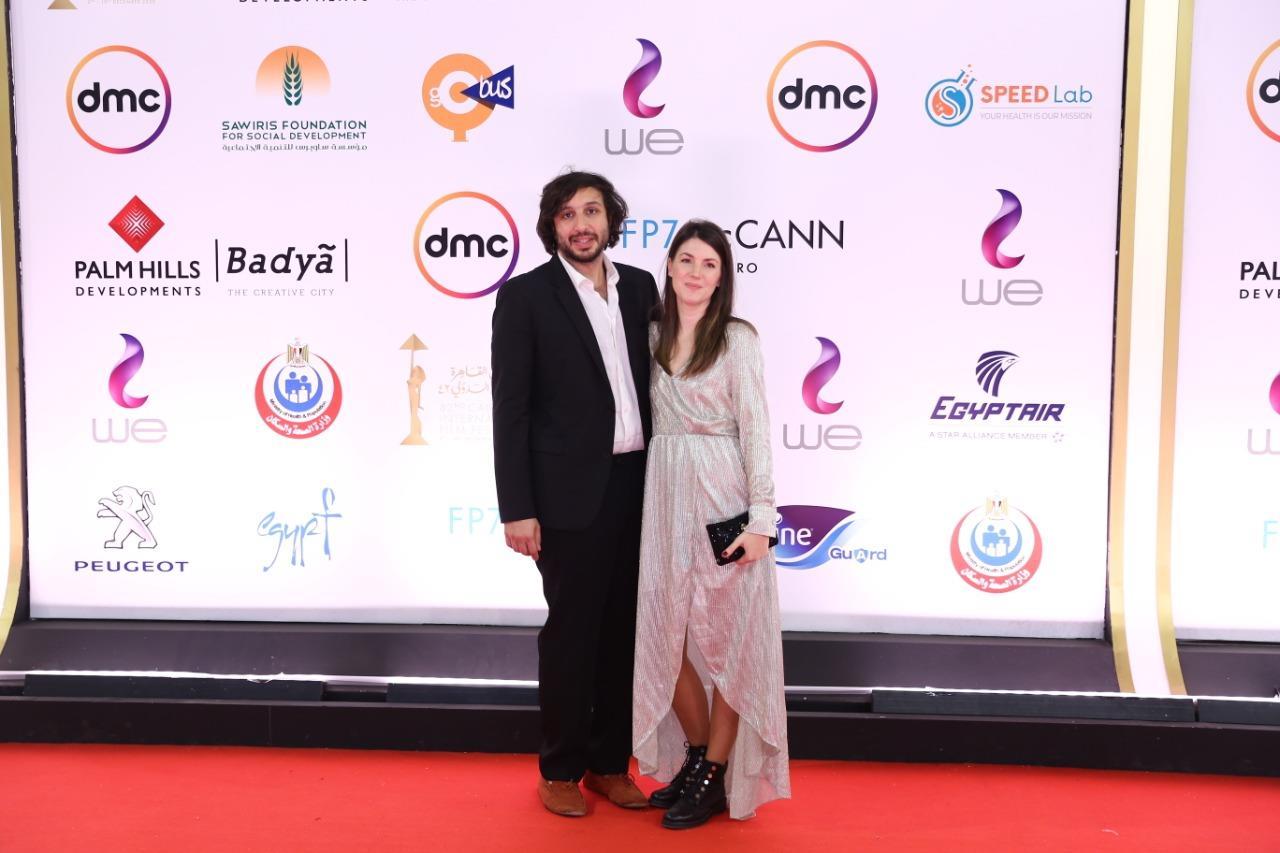 السجادة الحمراء لفيلم «غزة مونامور» بمهرجان القاهرة السينمائي