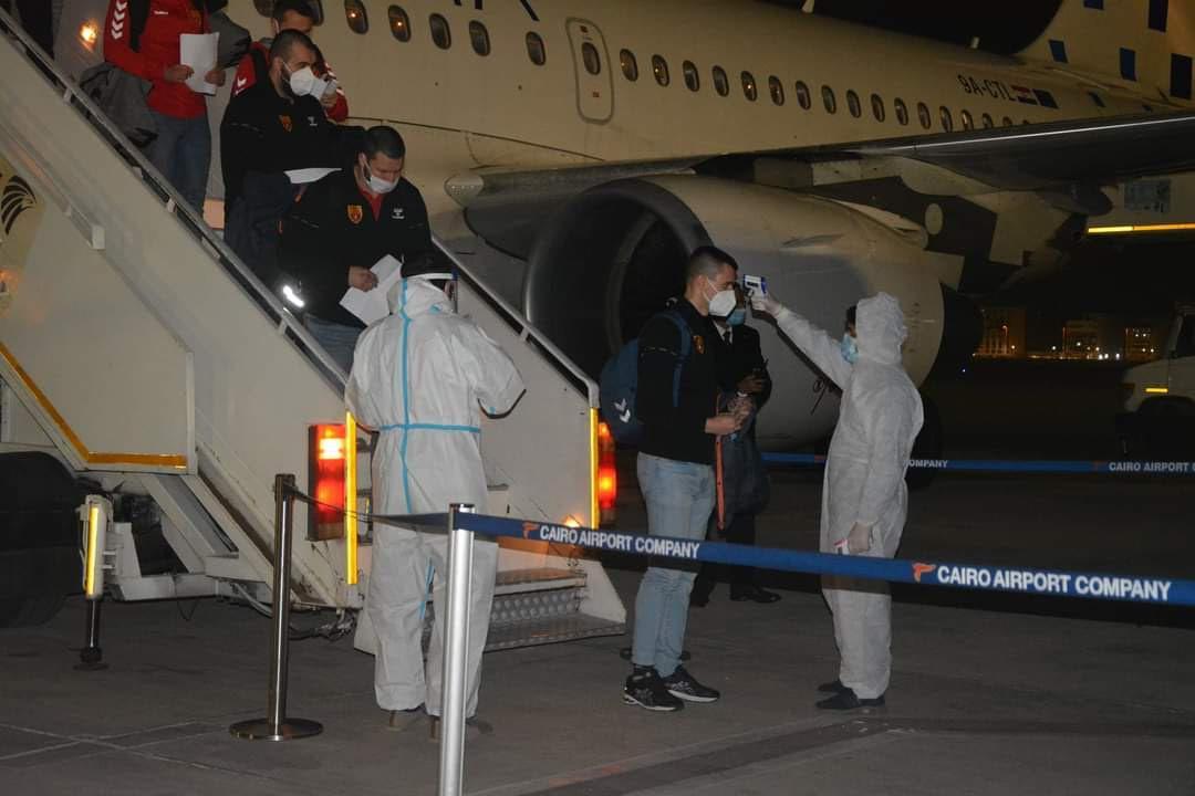 منتخب مقدونيا يصل مطار القاهرة للمشاركة في مونديال اليد| صور