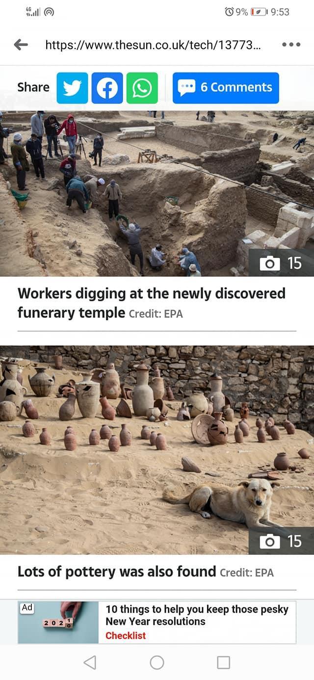 ذا صين :مصر تكشف عن كنز من الكنوز القديمة في سقارة