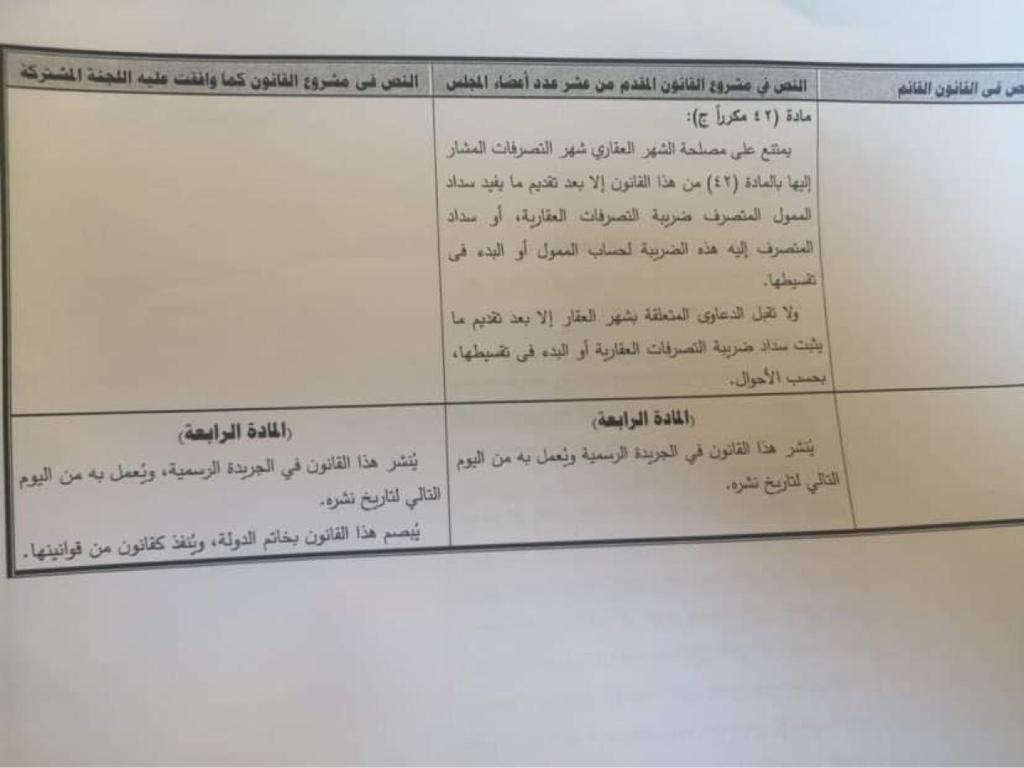 تعديلات قانون الشهر العقاري