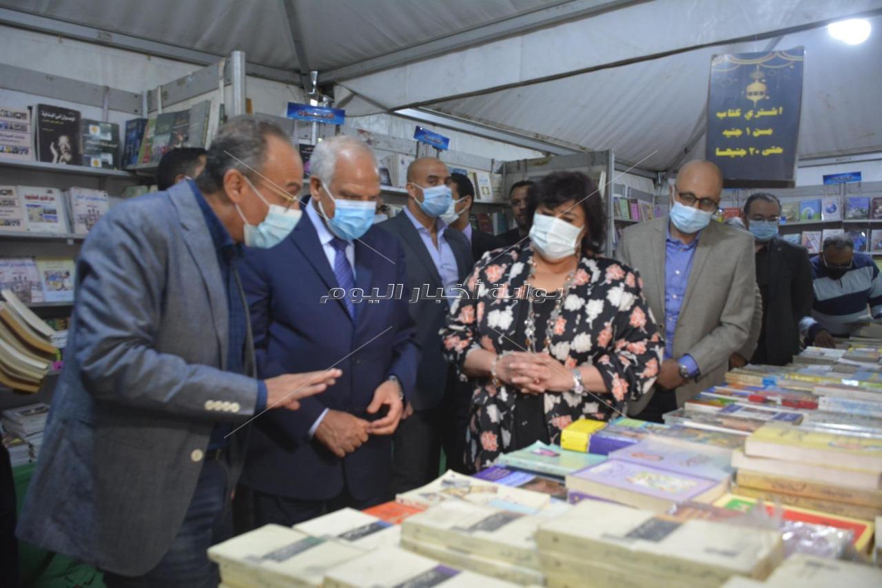وزيرة الثقافة ومحافظ الجيزة يفتتحان الدورة التاسعة لمعرض فيصل للكتاب