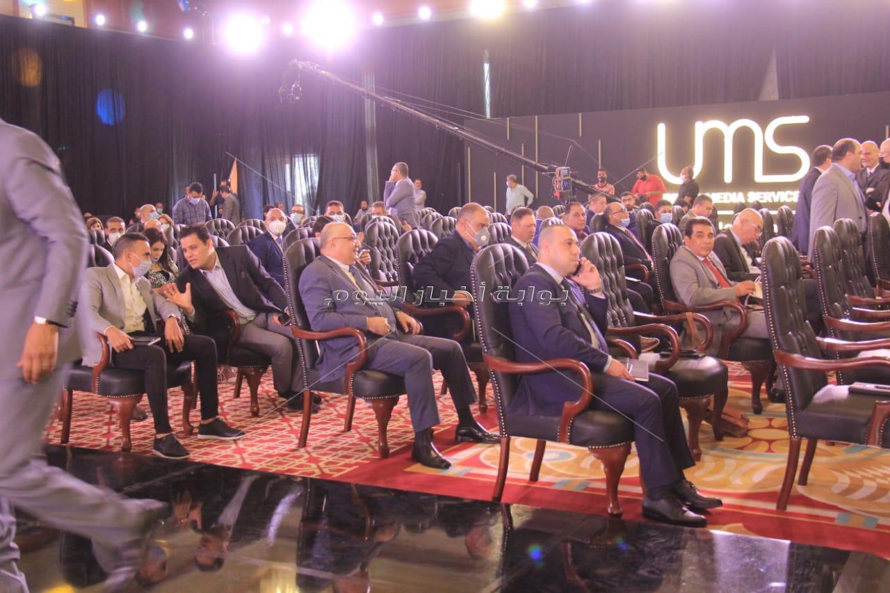 قيادات الإعلام وأهل الفن في المؤتمر الصحفي للشركة المتحدة