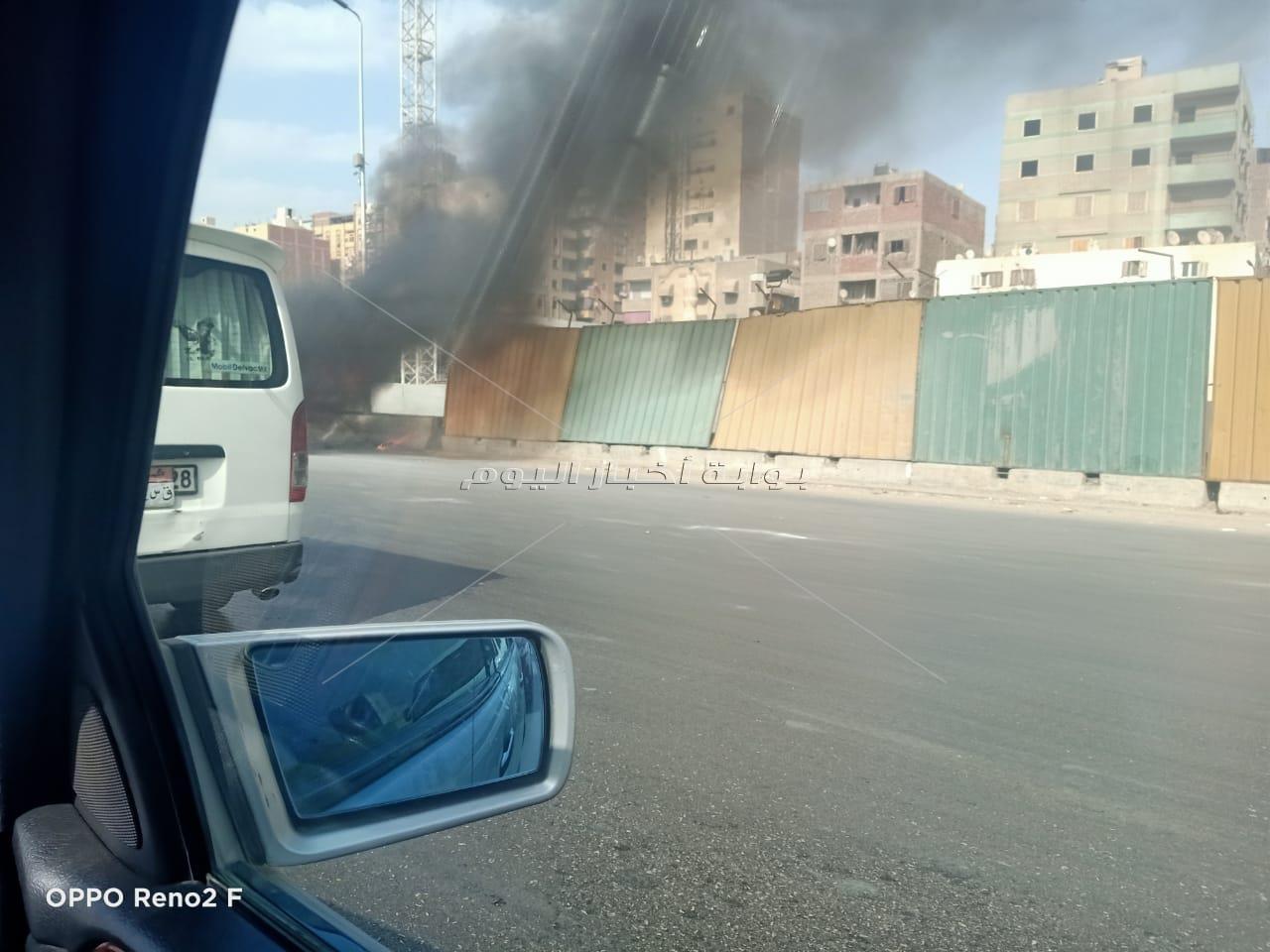 العناية الإلهية تنقذ 15 مواطناً من الموت المحقق في حريق ميكروباص