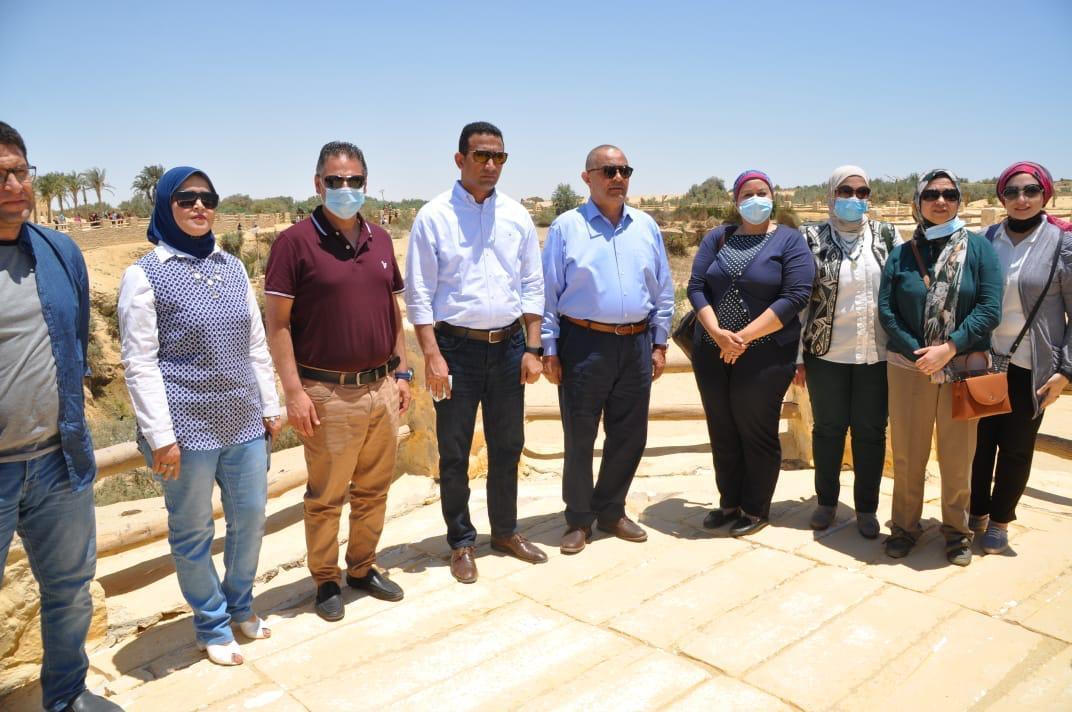 جولة تفقدية للمواقع السياحية بمحافظة الفيوم لتنشيط حركة السياحة بها