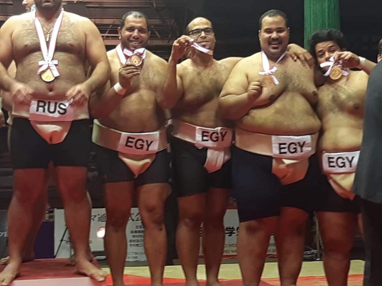 """تحيا مصر بـ""""الياباني"""".. إبراهيم """"يا جبل السومو"""" ما يهزك ريح"""