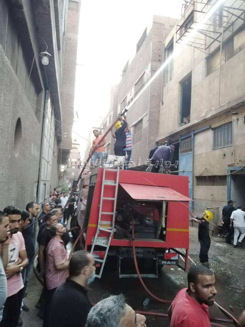 حريق في مصنع بشبرا الخيمة