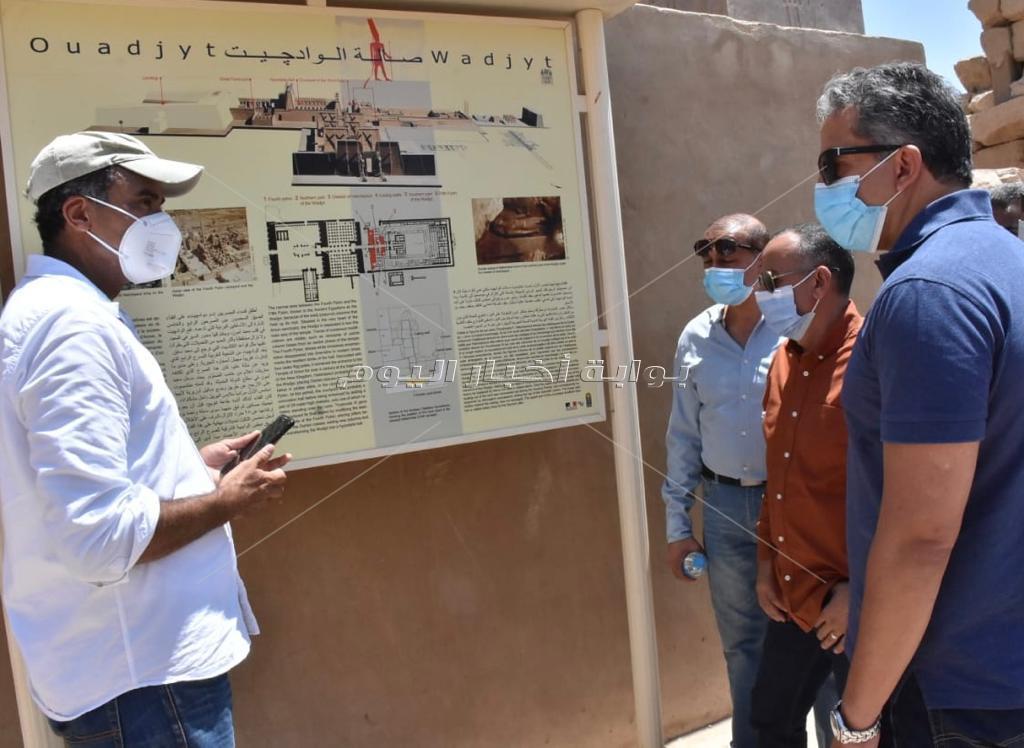 جولة وزير السياحة و الآثار بمدينة الاقصر