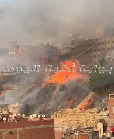حريق بمخلفات بمصر القديمة