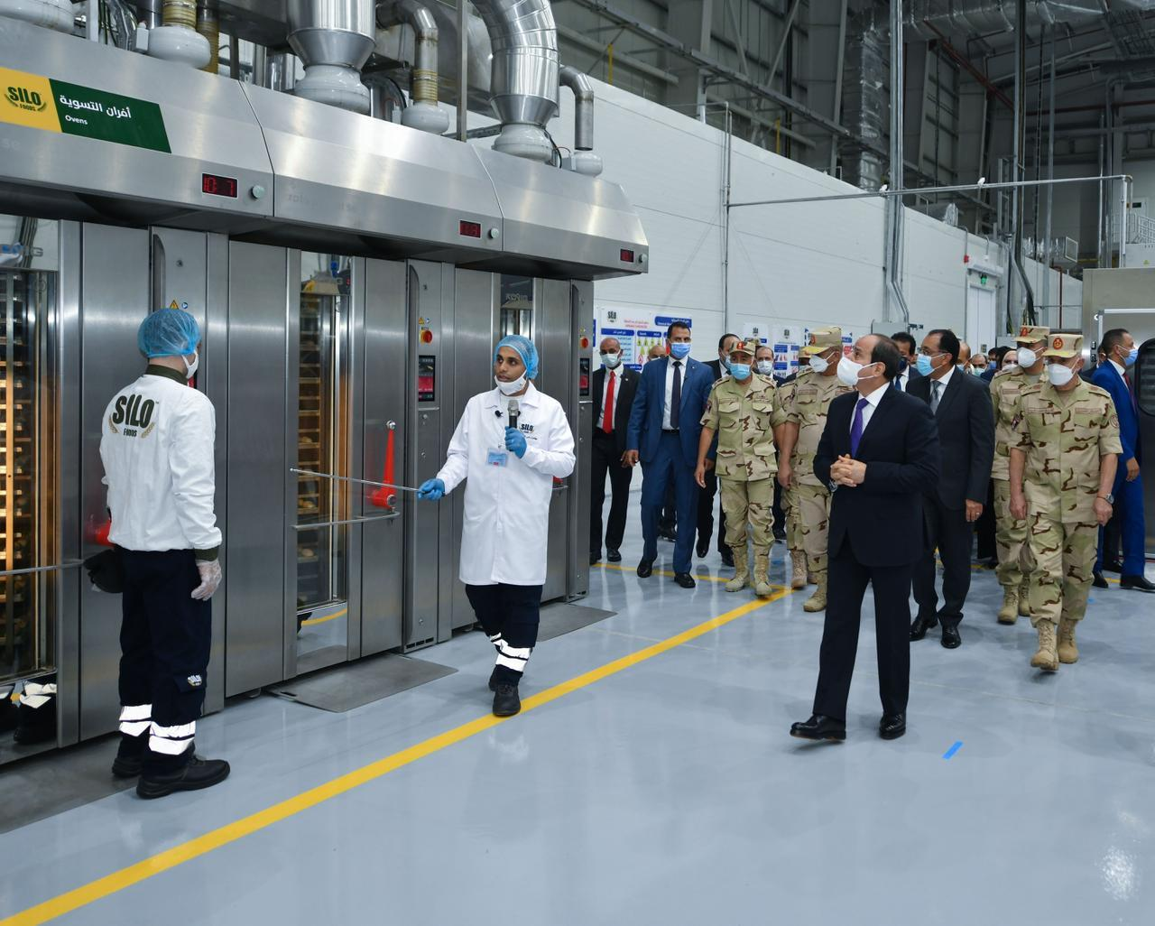الرئيس السيسي يفتتح المدينة الصناعية الغذائية بالسادات