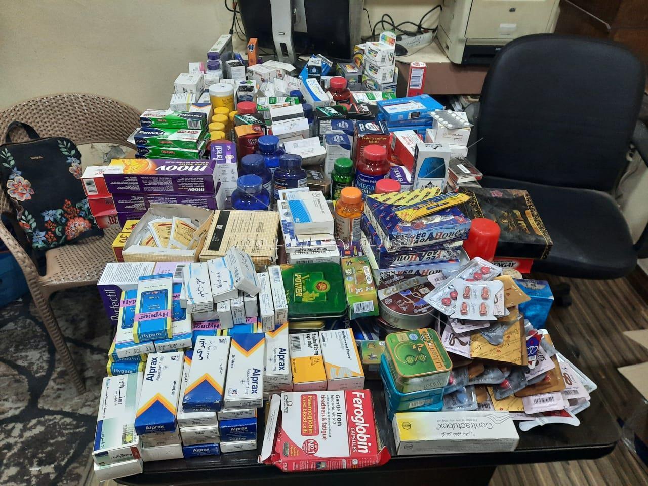 ضبط أدوية مخدرة داخل صيدلية شهيرة بعين شمس