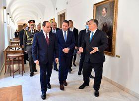تفاصيل جلسة مباحثات السيسى ورئيس الوزراء المجرى