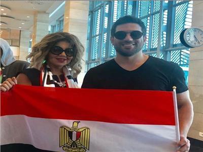 نجوم الفن يسافرون إلى روسيا لتشجيع المنتخب المصري| صور وفيديو