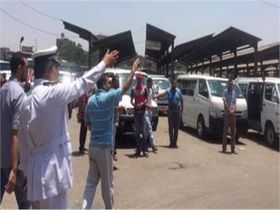 جولات تفقدية للقيادات الأمنية على مواقف سيارات الأجرة بالمحافظات