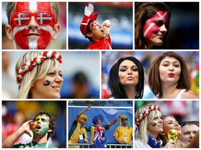 روسيا 2018|جماهير الدنمارك واستراليا تشعل ملعب كوسموس أرينا
