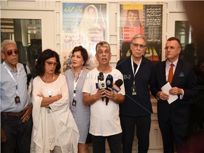 بالصور | افتتاح معرض أفيشات أفلام يوسف شاهين بمهرجان الجونة