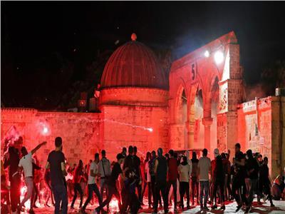 مواجهات عنيفة بين الفلسطينيين وقوات الاحتلال في باب العامود بالقدس