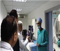 بالصور|حملة مفاجئة على معهد القلب لمتابعة القضاء على قوائم الانتظار