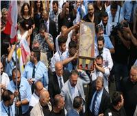 صور| لبنان يستقبل جثمان القديسة مارينا