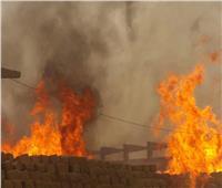 حريق هائل بمصنع مصابيح كهربائية بالعاشر من رمضان دون إصابات