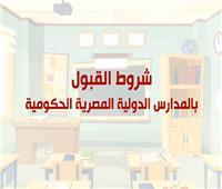 فيديوجراف| شروط القبول بالمدارس الدولية المصرية الحكومية