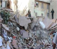 فيديو| اللقطات الأولى لانهيار منزل سكني في «شبرا مصر»