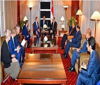 «السيسي» يستقبل رئيس المجلس الأوروبي ومستشار النمسا