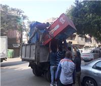 صور| حملات لرفع الإشغالات بعدة مناطق في الجيزة