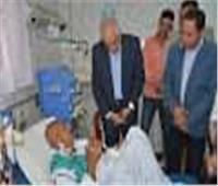 محافظ الجيزة يتفقد الأقسام بمستشفتى أبو النمرس والبدرشين