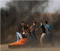 إصابة عشرات الفلسطينيين خلال احتجاج على حدود قطاع غزة