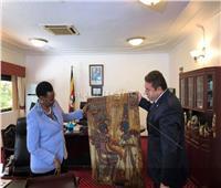 سفير مصر بأوغندا يلتقي مع السيدة الأولى
