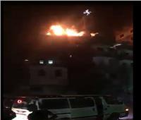 شاهد| اللقطات الأولى لحريق كنيسة العذراء بعين شمس