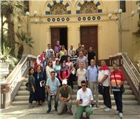وفد من نقابة المرشدين السياحيين يزور كنيسة العائلة المقدسة بالمطرية