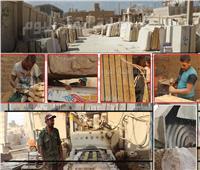 فيديو وصور| «شق الثعبان».. هنا مملكة صناعة الرخام التي تحلم بالعالمية