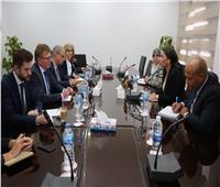 فؤاد تلتقي ممثلي الإتحاد الأوروبي والتعاون الألماني لبحث التعاون المشترك