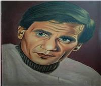 إبداعات القراء| لوحة زيتية للعندليب الأسمر عبد الحليم حافظ