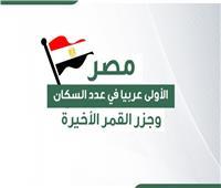إنفوجراف | مصر الأولى عربيا في عدد السكان تليها السودان.. وجزر القمر «الأخيرة»