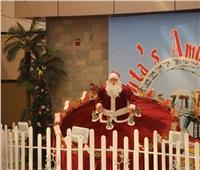 صور  مطار شرم الشيخ يتزين استعدادا لاحتفالات «الكريسماس»