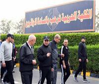 بالصور.. الرئيس السيسى يزور الكلية الحربية فجرا