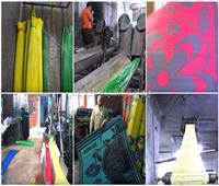 فيديو| «شبرا الخيمة» هنا «قلعة الحصير».. رحلة صناعة «سجاد الغلابة» من الألف للياء