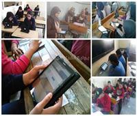 فيديو و صور  أول اختبار الكتروني.. حضر الطلاب وغاب الامتحان