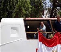 شاهد| حكيم يعتلي أتوبيسا مكشوفا لحث المواطنين على المشاركة في الاستفتاء