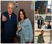 صور| قبل غلق باب التصويت.. 5 نجوم يدلون بأصواتهم في التعديلات الدستورية