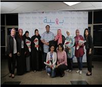 داليا الشافعي تدعم مريضات سرطان الثدي في مستشفى بهية